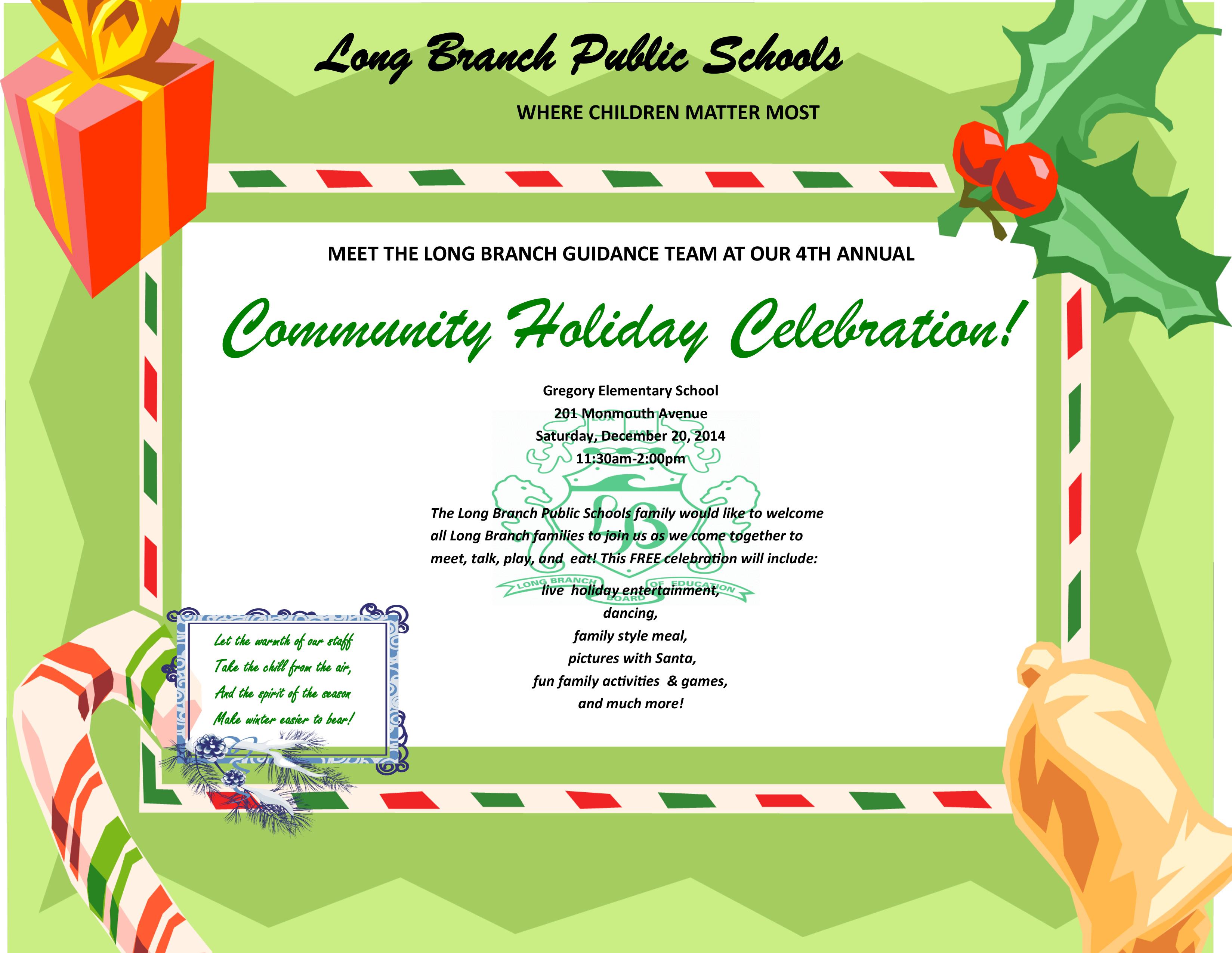 Community Holiday Celebration 2014