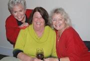(l-r) Mary Eagan, Lyn Paul and MaryAnn Salimbene were in fine spirits for the Christmas party.
