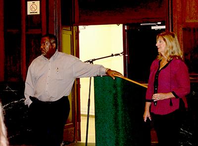 Councilman Bill Dangler and Councilwoman Rose Widdis.
