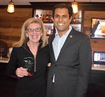 Dr. Anita Voogt with Senator Vin Gopal