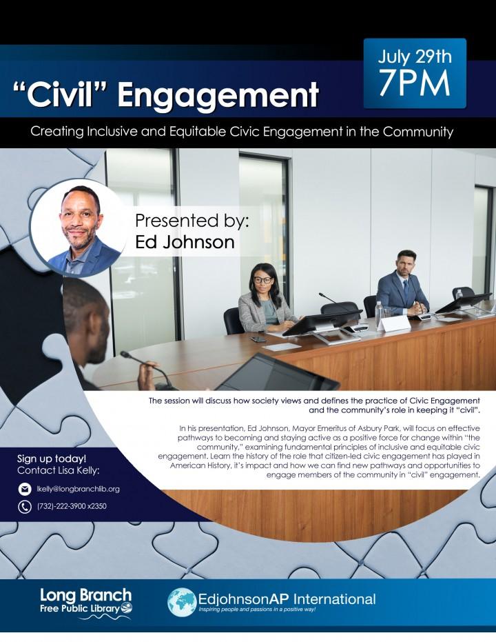 library Civil Engagement flyer