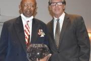 Humanitarian Award winner Avery Grant with Mayor John Pallone